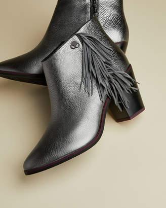 Ted Baker KKITE Metallic fringe ankle boots