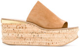 Chloé Camille wedge mules - women - Leather/Suede - 37.5