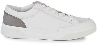 Vince Bowers Leather Suede Colorblock Sneakers