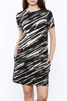 Trina by Trina Turk Zebra Mini Dress