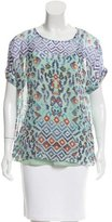 Temperley London Abstract Print Silk Top