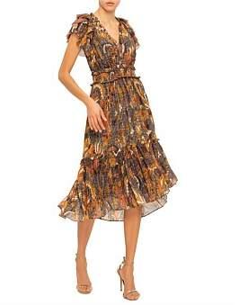 Ulla Johnson Birds Of Paradise Cicely S/S Maxi Dress