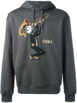 Dolce & Gabbana trombonist patch hoodie - men - Cotton/Polyester/Viscose/Virgin Wool - 48