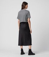 AllSaints Benno Lin Stripe 2-in-1 T-Shirt Dress