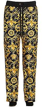 Versace Women's Gianni Signature Silk Twill Joggers