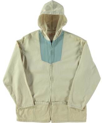 Levi's Vintage Clothing 1960 S Anorak Jacket Cream Cloud Blue - M / Yellow