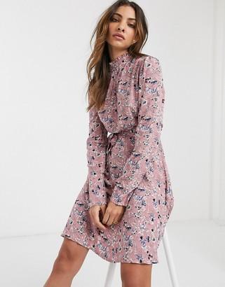 Vila floral dress with waist tie