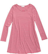 Love, Fire Striped Ribbed T-Shirt Dress, Big Girls