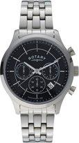 Rotary Men's Black Chronograph Bracelet Watch.