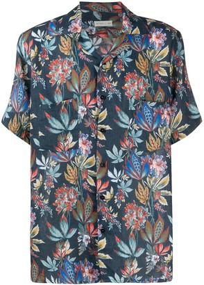 Etro Floral-Print Linen Shirt