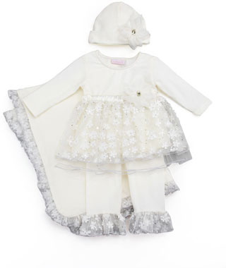 cachcach Twinkle Blooms Swing Top & Pants Set, 12-24 Months
