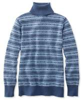 L.L. Bean Cotton/Cashmere Sweater, Turtleneck Fair Isle