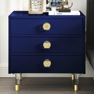 Nicole Miller Tila 3 Drawer Nightstand Color: Dark Navy