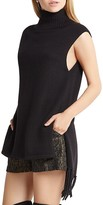 BCBGeneration Fringe Trim Sleeveless Sweater