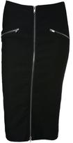 Zipper High Waisted Skirt