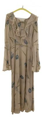 Luisa Beccaria Beige Silk Dresses