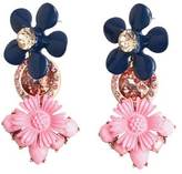 MANGO Flower pendant earrings