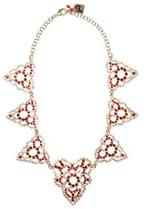 Rosantica Heart Crystal-embellished Necklace - Red Multi
