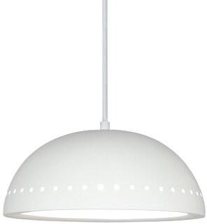 A19 Islands Gran Inverted 1-Light Single Dome Pendant Copper Wire Stitch: No, Finish: Clay Acrylic