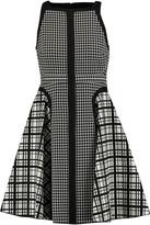 Giambattista Valli Paneled checked cotton dress