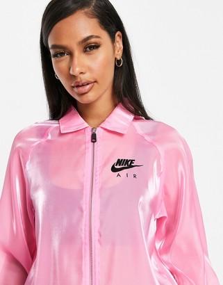 Nike translucent jacket in pink