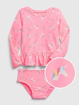 Gap Toddler Unicorn Rash Guard Swim Two-Piece