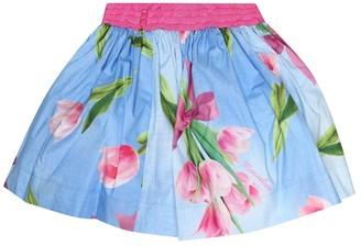 MonnaLisa Floral cotton skirt