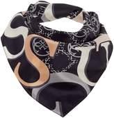 GUESS Logo border silk scarf