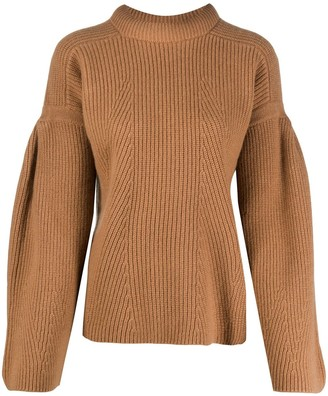 LOULOU STUDIO Chunky Knit Flared Sleeve Jumper