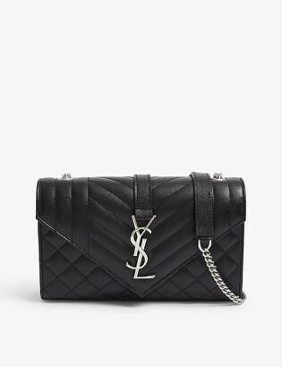 Saint Laurent Monogram leather satchel bag