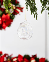 """Jim Marvin White & Silver Collection Iridescent Ball Ornament, 4"""""""