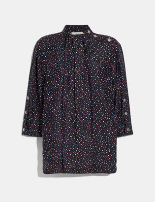 Coach Dot Print Short Sleeve Blouse