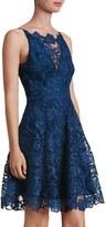 Dress the Population Women's 'Hayden' Crochet Lace Fit & Flare Dress