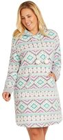 Cuddl Duds Plus Size Pajamas: Show Stopper Hooded Sleep Shirt