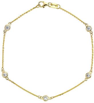 LeVian Suzy Diamonds Suzy 14K 0.25 Ct. Tw. Diamond Station Bracelet