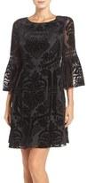 Eliza J Petite Women's Burnout Velvet Fit & Flare Dress