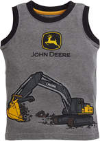 John Deere Heather Gray Excavator Tank - Infant & Toddler