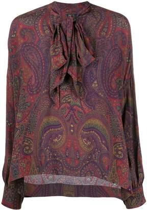 Polo Ralph Lauren paisley print pussy-bow blouse