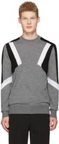 Neil Barrett Grey Abstract Pullover