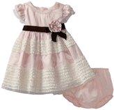 Bonnie Baby Girls Infant Velvet Trim Dress