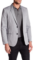 Kenneth Cole New York Gray Sharkskin Two Button Notched Lapel Blazer
