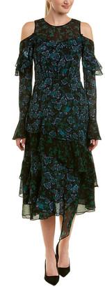 Tanya Taylor Silk Midi Dress