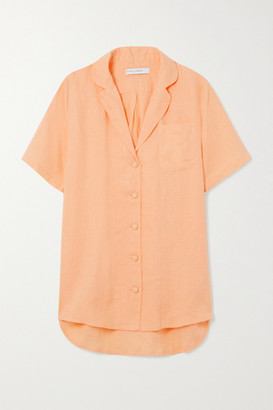 Faithfull The Brand + Net Sustain Charlita Linen Shirt - Pastel orange