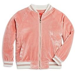 Aqua Girls' Velvet Bomber Jacket, Big Kid - 100% Exclusive