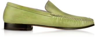 Pakerson Pistachio Italian Handmade Leather Loafer Shoes