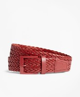 Brooks Brothers Woven Leather Belt