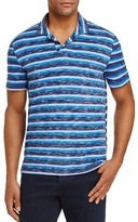 Michael Bastian Stripe Slub Slim Fit Polo Shirt