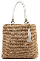 Straw Studios Braided Handle Raffia Tote Bag