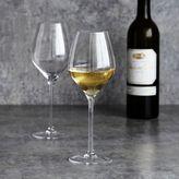 Sur La Table Crystal Mouth-Glown White Wine Glasses, Set of 6