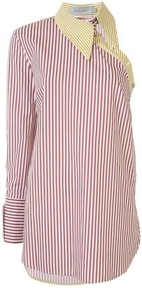 Silvia Tcherassi Asymmetric Striped Shirt